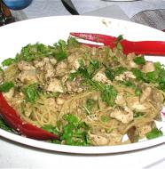 farina recessionista noodles red spoons