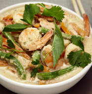Green Thai Coconut Curry With Shrimp