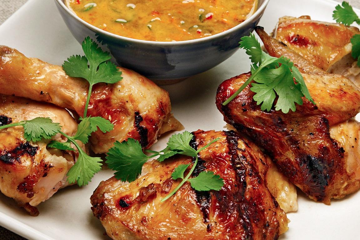 Perfect Grilled Chicken, Brining, Thai Gai Yang, Spicy Chicken Recipe