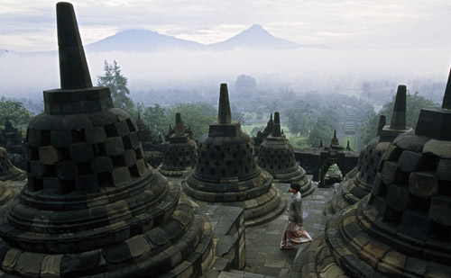 Beautiful 8th century Borobudur